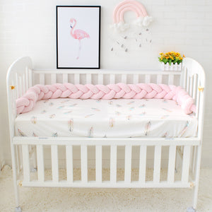 1/2/3M Plain Braided Cot Bumper