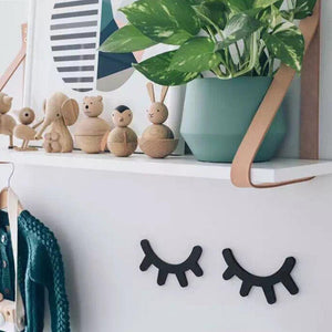 Wooden Eyelash Wall Decor