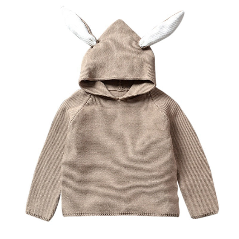 Rabbit Hood Knitted Sweater