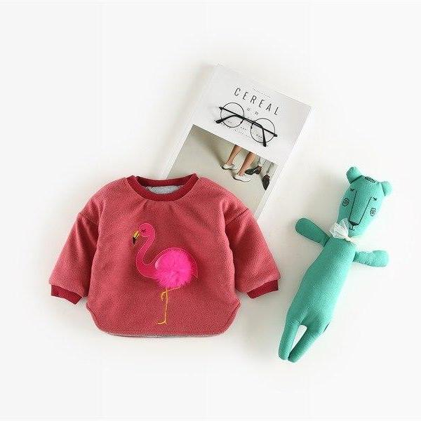 Flamingo Pompom Sweater