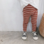 Basics Rib Knit Striped Leggings