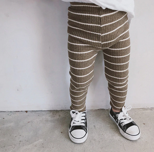 Essentials Rib Knit Striped Leggings