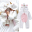 Soft Unicorn Wings Baby Jumpsuit