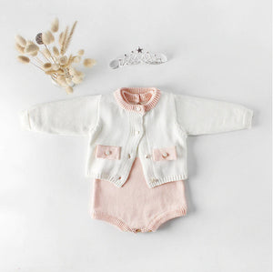 Sweet Knitted Cardigan and Romper