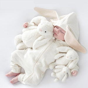 Hooded Rabbit Jumpsuit, Multi
