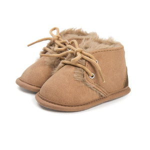 Fur Lined Moccasin Boots