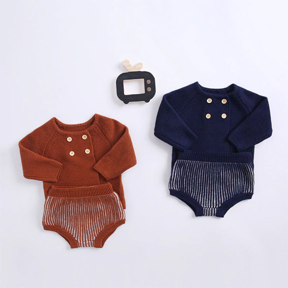 Vintage Knitted Cardigan & Bloomers