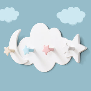 Cloud, Moon & Star Wall Hooks