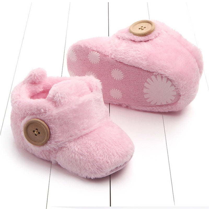 Soft Baby Button Slipper Boots