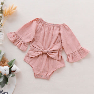 Flare Sleeve Bow romper