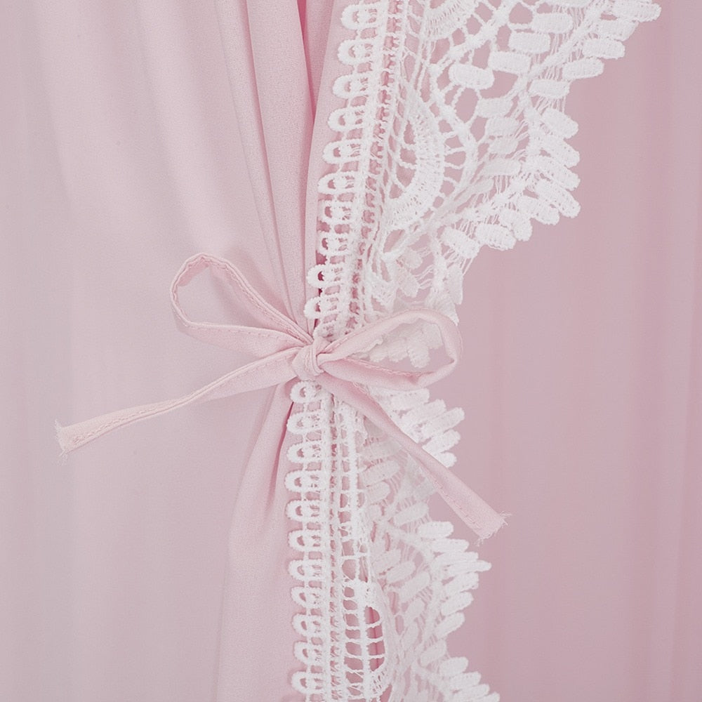 Luxe Lace Trim Canopy