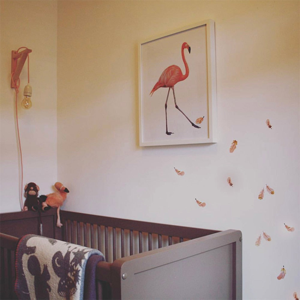 Balloons, Flamingos & Feathers Wall Decals