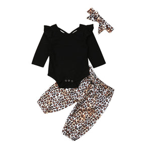 Cute Leopard Print 3 Piece Set