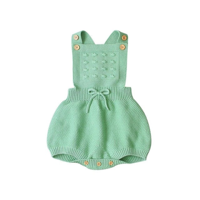 Candy Color Sleeveless Knit Romper