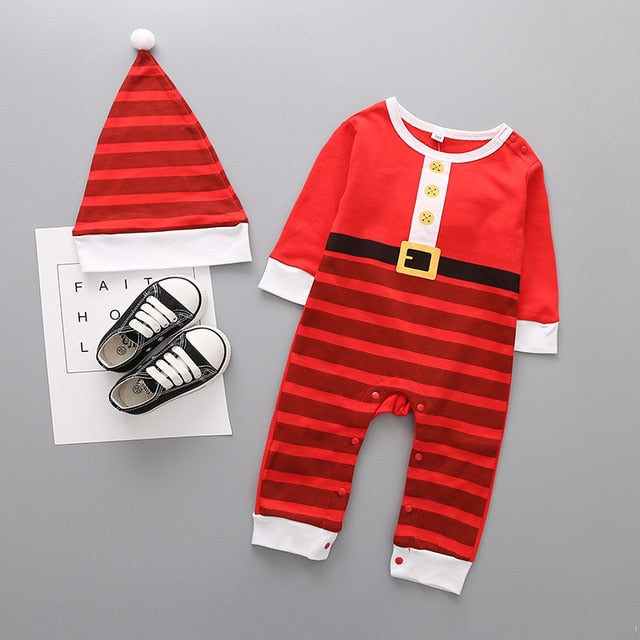 Christmas Jumpsuit & Matching Hat, Various Designs