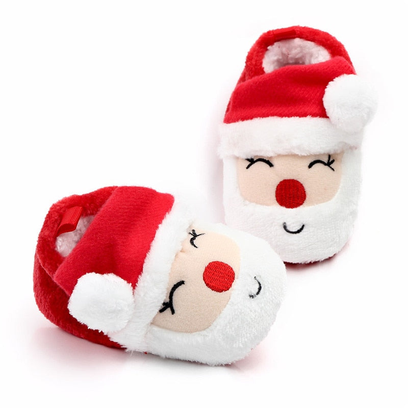 Santa Claus Soft Sole Christmas Shoes
