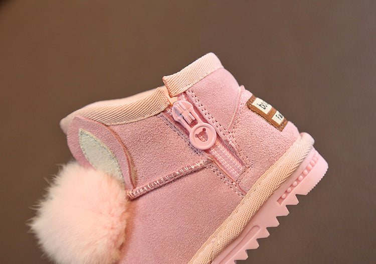 Cute Rabbit Pompom Snow Boots