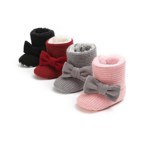 Bow Knitted Booties