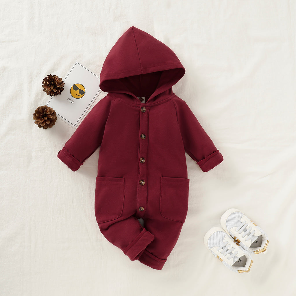 Sweater Style Hooded Jumpsuit