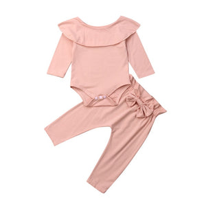 Basics Scoop Neck Romper & Pants Set