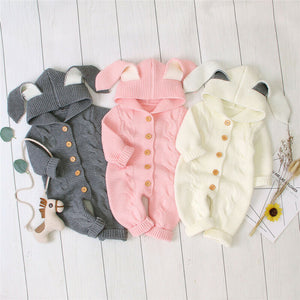 Baby Rabbit Cable Knit Jumpsuit