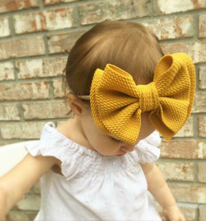 Big Bow Textured Headband, Various Colors
