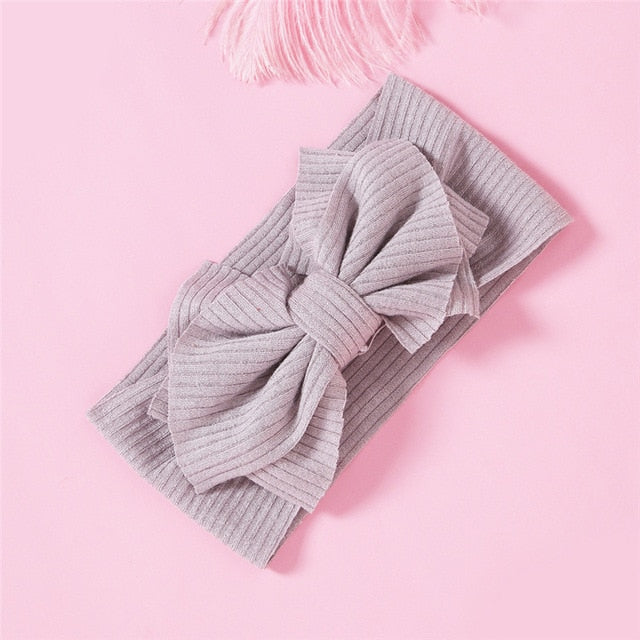 Soft Ribbed Bow Headband