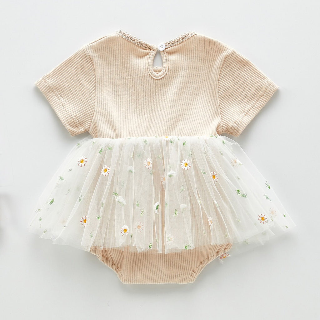 Limited Edition Embroidered Daisy Tutu Romper