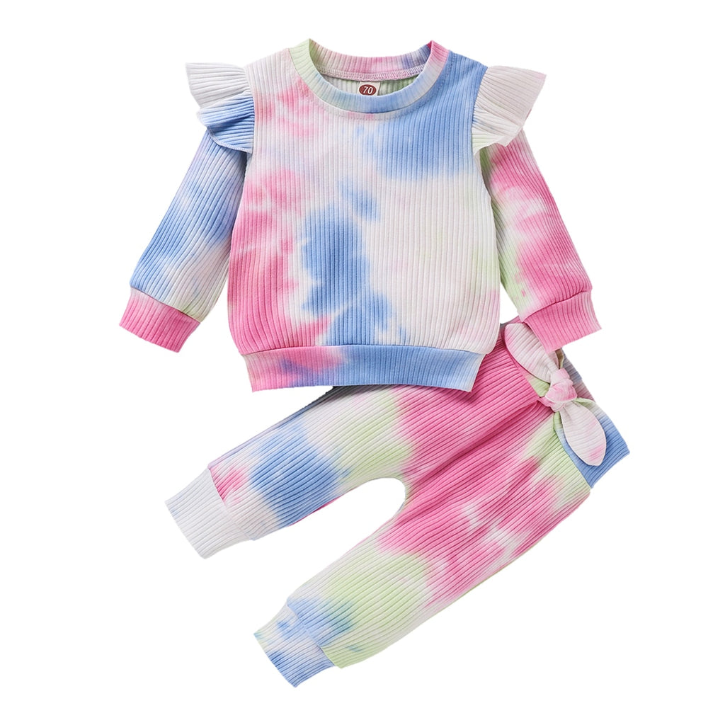 Tie-Dye Flutter Sleeve Lounge Set