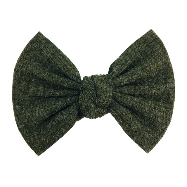 Ribbed Bow Hair Clip, Set of 2