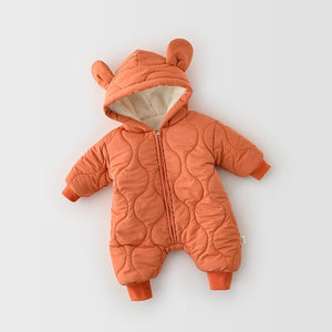Premium Quilted Bear Overalls, Fleece-Lined
