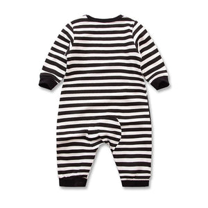 Stripy Penguin Long Sleeved Cotton Jumpsuit