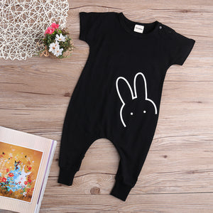 Short Sleeved Rabbit Jumpsuit