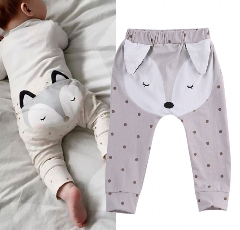 Polka Dot Fox Pants