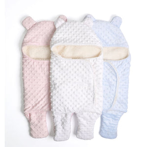 Luxe Baby Bear Bobble Fleece Wrap