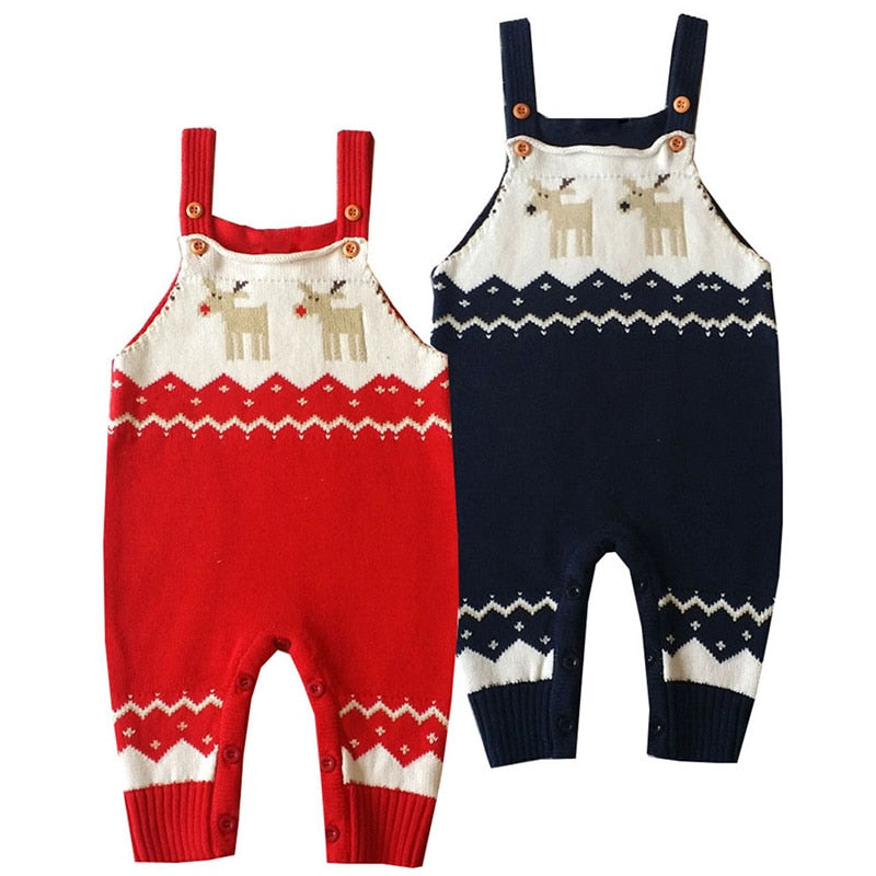 Knitted Reindeer Overalls