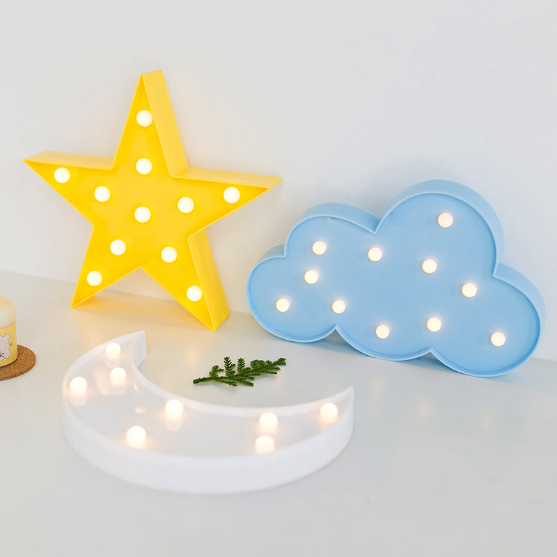 Cloud, Moon & Star LED Wall Lamp