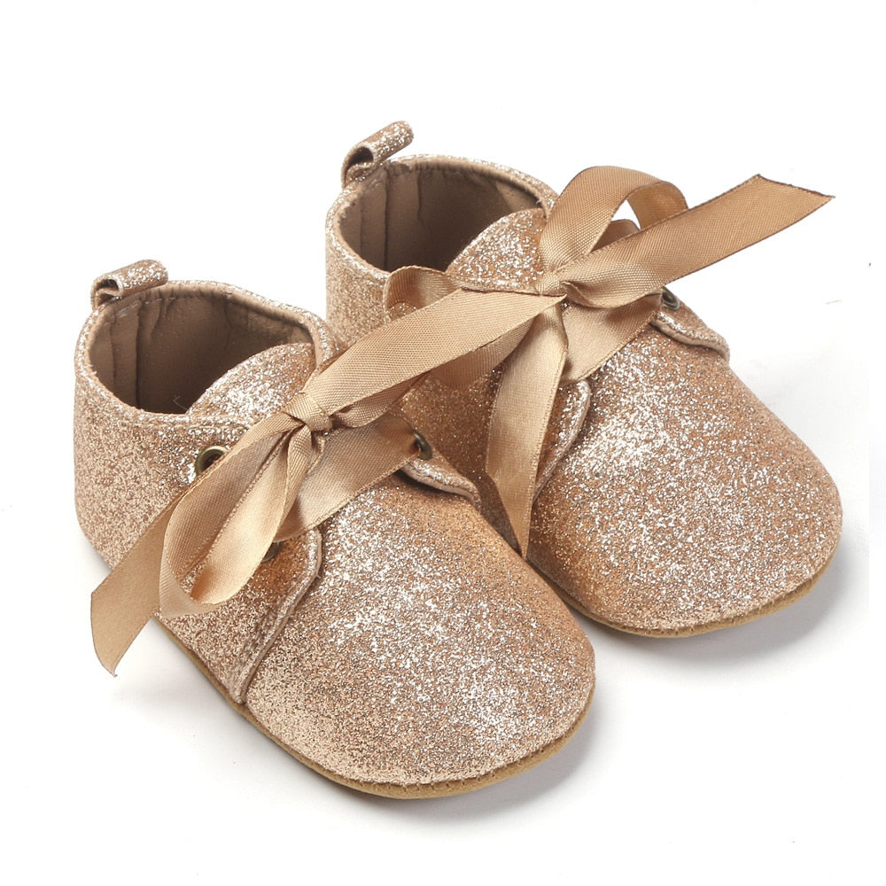 Beautiful Glitter Baby Shoes