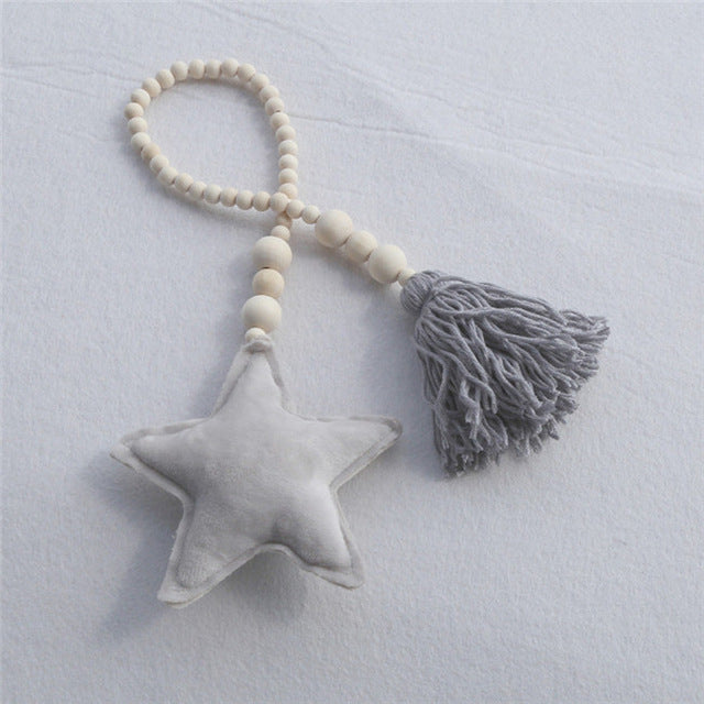 Moon, Star and Heart Beaded Ornaments