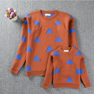 Mommy & Me Matching Triangle Knit Sweaters