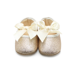 Gold Glitter Baby Girl Shoes