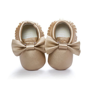 Beautiful Bow Tassel Moccasins