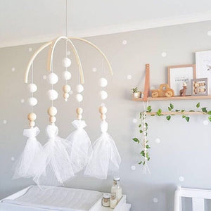 Beaded Hanging Crib Mobile