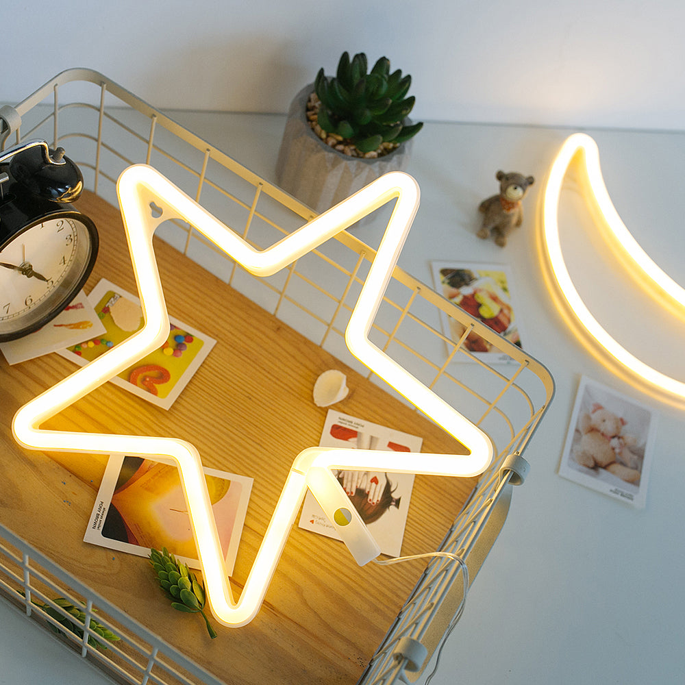 Neon Star Night Light