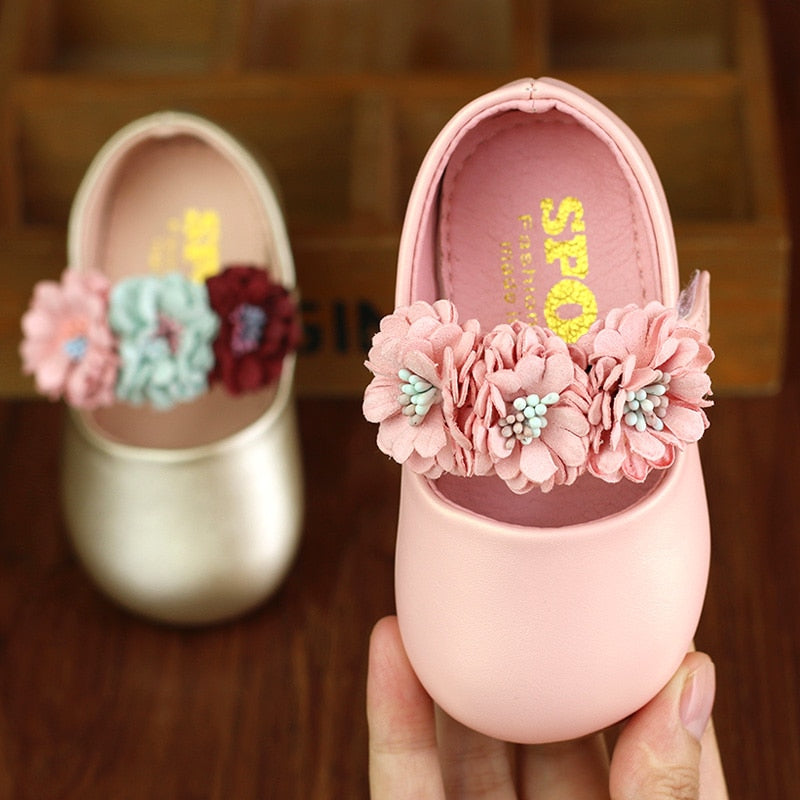 Soft Leather Baby Flower Girl Shoes
