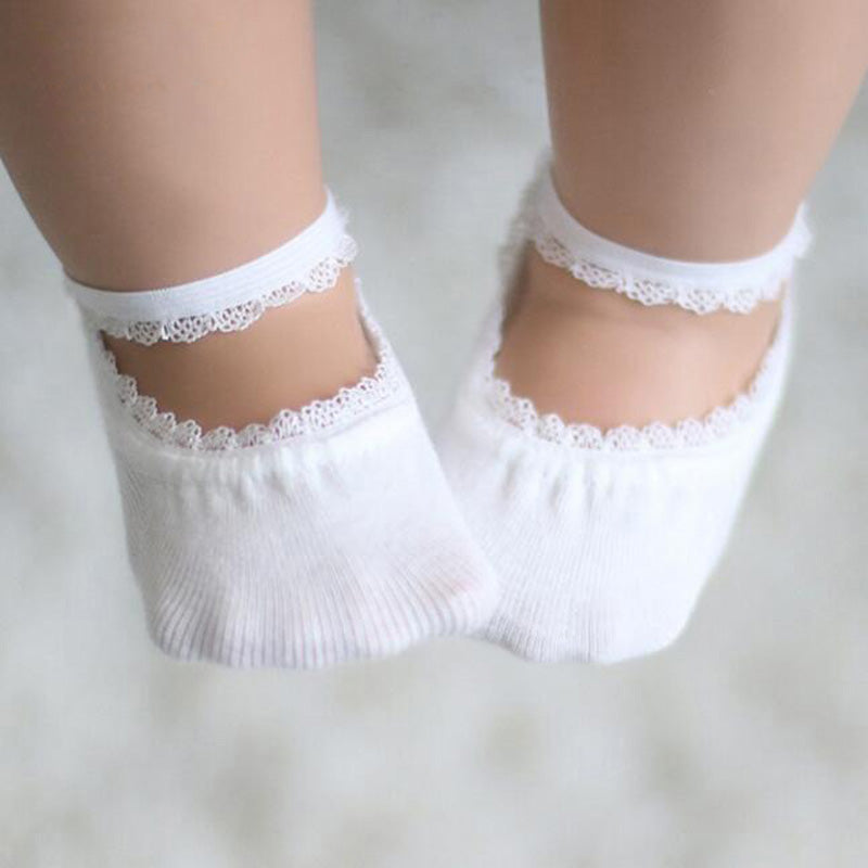Lace Anti-Slip Baby Cotton Socks