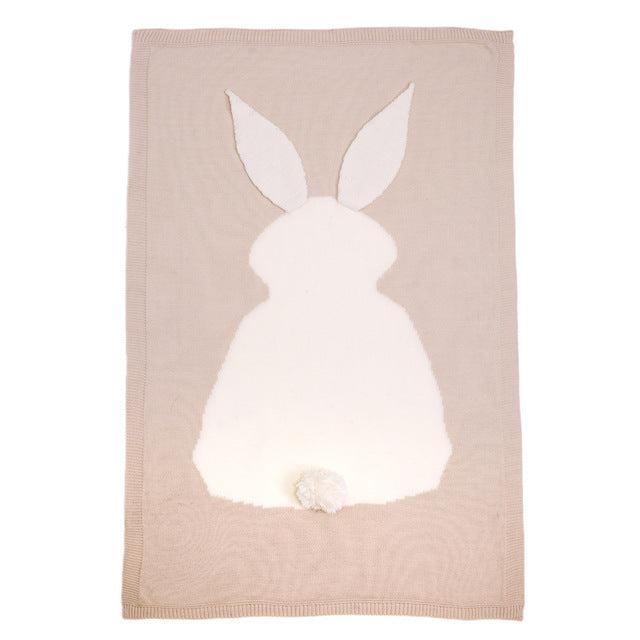 Cosy Knit Rabbit Blanket