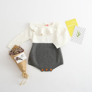 Long Sleeve Knitted Romper, Multi