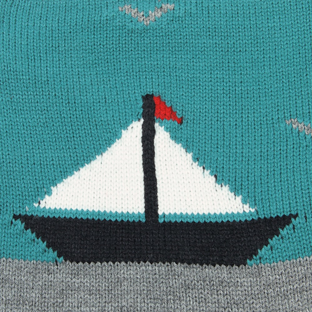 Sailboat Knitted Romper
