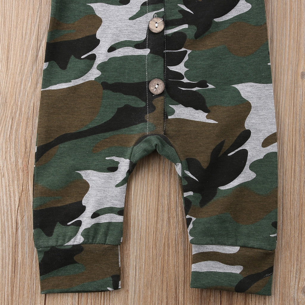 Cool Camo Button Jumpsuit